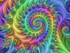 Trippy Hippie Spiral by *Thelma1 on deviantART--stunning colors!