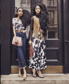 Channel the Urban Bush Babes (twins) with their personal style must-haves and new arrivals Modest Fashion, Girl Fashion, Womens Fashion, Style Fashion, Quann Sisters, Rebecca Minkoff, Street Chic, Street Style, Editorial Fashion