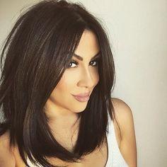 #hairdo #darkhair #longbob #longbangs #haircutsforwomen #cuteandsexy