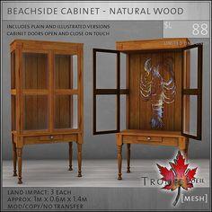 beachside cabinet natural wood L88