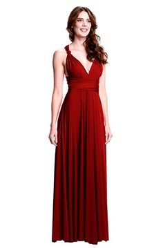 Sakura Long Convertible Dress Ruby Red- want knee length. Ruby red for m.o.h. lighter red for bridesmaid