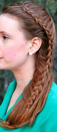 Same Side Dutch Mermaid Braid.