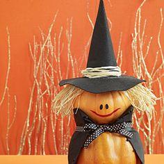 Witch pumpkin | 30 Easy Halloween Pumpkin Ideas (No Carving Required!) | AllYou.com Mobile