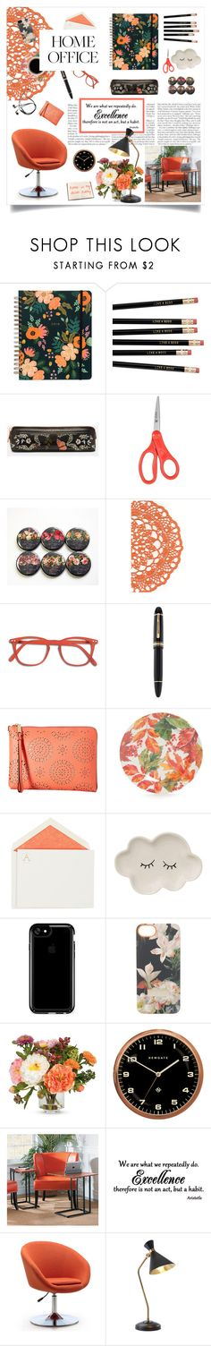 """""""Work Hard: Home Office"""" by soledestate ❤ liked on Polyvore featuring interior, interiors, interior design, home, home decor, interior decorating, Ted Baker, Montblanc, Ivanka Trump and Connor"""