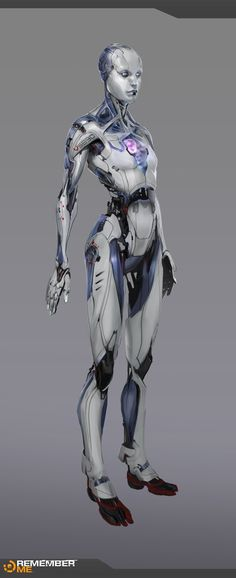 Concept art of an android valet from Remember me by Frederic Augis