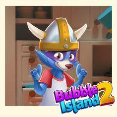 Heisann! Sjekk ut den nye hatten jeg fikk i Bubble Island 2!