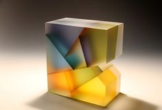 Artist Jiyong Lee's translucent #glass sculptures beautifully fragment color and light. #art #sculpture