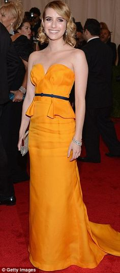 Emma Roberts in Escada.  This dress is REALLY REALLY cute!!!