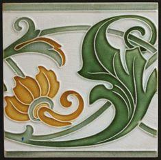 Art Nouveau tile Villeroy & Boch - Catawiki