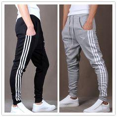 Outdoors Cargo Loose Trousers Men Sweat Harem Sport Joggers Pants Hip Hop Slim Fit Sweatpants for Dance Sports Pants Pants Adidas, Adidas Sweatpants, Adidas Outfit, Mens Joggers, Slim Joggers, Slim Pants, Adidas Men, Jogger Pants Outfit, Sweatpants Outfit