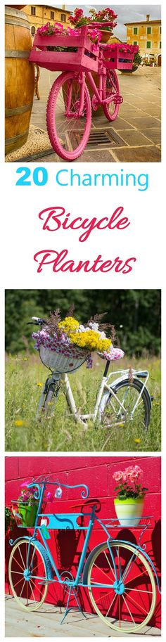 Bicycles are not just for riding.  Turn old ones into garden planters