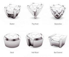Great information about settings | Jewelry Information | Diamond Stone Settings