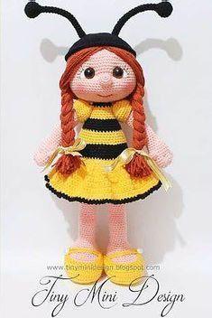 Bee Girl - free pdf crochet pattern