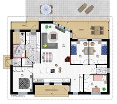 Oiva 124 Sims 4, Rum, House Plans, Sweet Home, Floor Plans, Houses, Architecture, Building, Model
