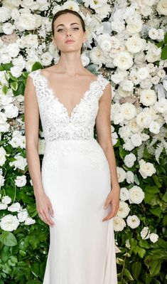 Why do we love hosting trunk shows? Because for a single weekend we get to expand our inventory with designer gowns we don't have in our… Wedding Dress Necklines, V Neck Wedding Dress, Wedding Attire, Designer Gowns, Designer Wedding Dresses, Bridal Gowns, Wedding Gowns, Wedding Bells, Lace Wedding