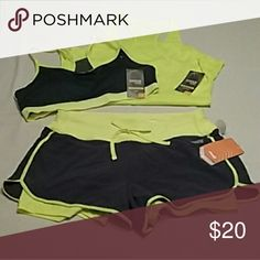 Avia Work Out Set Dry fit work out outfit size small shorts and size medium sports bra and tank Avia Other