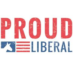 not out! Blue 3 x 6 Political Sticker We/'re down Proud Liberal Red White