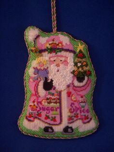 Sugar & Spice Santa Ornament ~ Canvas by Strictly Christmas