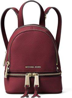 3a7688c41452 MICHAEL Michael Kors Rhea Mini Leather Backpack (Oxblood) #MichaelKors  #Resort Collection #