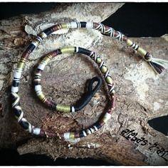 Atébas ou tresses indiennes couleurs camouflage, 40cm