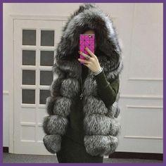 4XL 2017 Women's Winter Coat Artificial Fox Fur Vest Femme Fur Vests Fashion Ladies Jacket Warm Coat 9 Colors Vestimenta HJ76