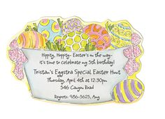 Eggstra Special Die-cut Invitation