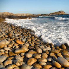Egg Beach, Flinders Island - known for the smooth 'egg like' rocks found along the coastline. Beach Travel, Beach Trip, Tasmania Travel, Water People, Salt And Water, Beach Bum, Natural Wonders, Beautiful Beaches, Trip Planning