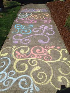 Sidewalk chalk swirly mood