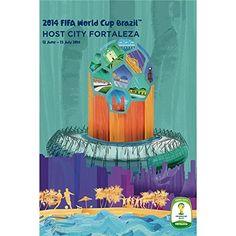Amazon.co.jp: 2014 FIFA ワールドカップ ブラジル オフィシャルライセンス ポスター ホストシティ 開催都市ポスター フォルタレザ Fortaleza 2014 FIFA World Cup Brazil(TM) Host City Poster 【正規オフィシャルグッズ】【並行輸入品】: ホーム&キッチン
