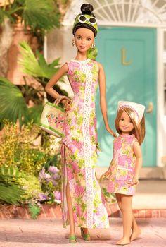 リリー・ピュリッツァー バービー ステイシー ギフトセット Lilly Pulitzer Barbie and Stacie Giftset - バービー人形・ファッションドール通販 エクスカリバー Excalibur