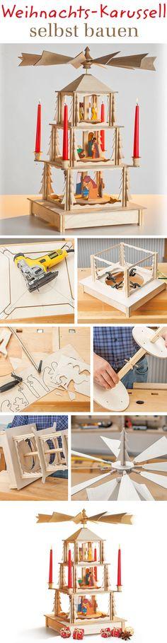 Ein Weihnachstkarussell – auch als Weihnachtspyramide oder Adventspyramide bekannt – kann man selbst bauen. Wir zeigen Schritt für Schritt, wie du das Modell aus Holz selbst machen kannst.