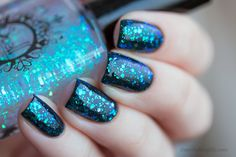 SPELL POLISH ~The Sky is Our Canvas~ opalescent aqua blue glitter nail polish! / Spell Polish