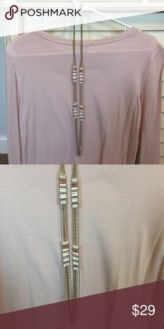 Long Stella and Dot necklace White, silver, gold, and rose gold Stella & Dot Jewelry Necklaces