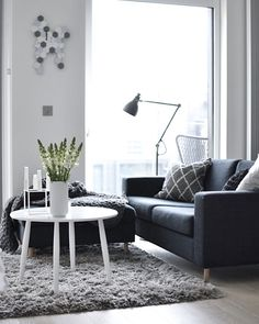 Get a small sofa to your small living area. | For more living room ideas visit http://livingroomideas.eu/