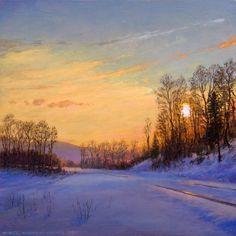 'Winter Tracks' by Mikel Wintermantel, Copley Master - Luminous Landscape Paintings