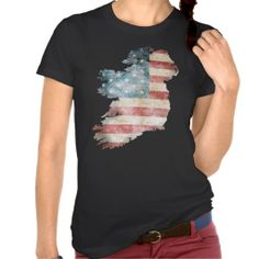 Ireland with USA flag Women's American Apparel Fine Jersey Short Sleeve T-Shirt, color is black Irish Design, Irish American, Jersey Shorts, American Apparel, Shirt Style, Your Style, Shirt Designs, Ireland, Mens Tops