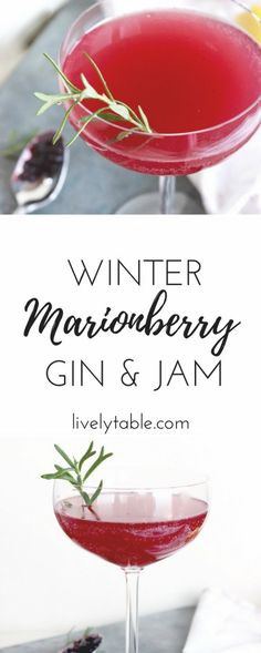 The Marionberry Gin and Jam is a delicious and easy winter cocktail that everyon. The Marionberry Gin and Jam is a delicious and easy winter cocktail that everyone will love! via li Winter Cocktails, Easy Cocktails, Cocktail Drinks, Cocktail Maker, Alcoholic Cocktails, Bourbon Drinks, Fall Drinks, Blackberry Gin, Raspberry Mojito