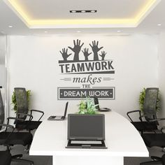 Teamwork makes the dream work - Teamwork - Office Wall art - Corporate - Office supplies - Office Decor - Office Sticker - SKU:TWRK