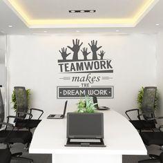 Teamwork makes the dream work - Teamwork - Office Wall art - Corporate - Office supplies - Office Decor - Office Sticker - SKU:TWRK
