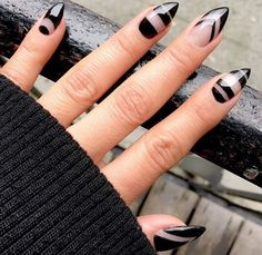 Black pointy nails