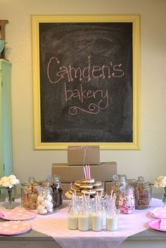 Adorable bakery table