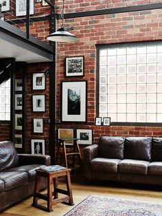 Australian loft space with exposed brick Follow Gravity Home: Blog - Instagram - Pinterest - Bloglovin - Facebook