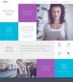 Oltiva Solutions Web by Nohemi Olvera, via Behance