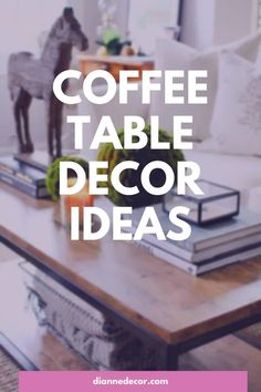 Coffee table decorating has evolved from a place to serve coffee to a decorative focal point for your living room. But, is it too much?    #coffeetabledecorating #coffeetable #coffeetabledecor #tabletopdecor #coffeetablestyling #homedecorating #coffeetableideas Coffee Table Plants, Coffee Table Styling, Decorating Coffee Tables, Coffee Table Inspiration, Living Room Decor Inspiration, Decorating On A Budget, Decorating Blogs, Interior Design Books, Diy Room Decor