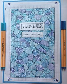 Patterns are incredibly beautiful and soothing to draw. Try one of these pattern cover page ideas in your next bullet journal monthly setup. Bullet Journal Cover Page, Bullet Journal Notes, Bullet Journal Aesthetic, Bullet Journal School, Bullet Journal Ideas Pages, Journal Covers, Bullet Journal Inspiration, Book Journal, Notebook Art