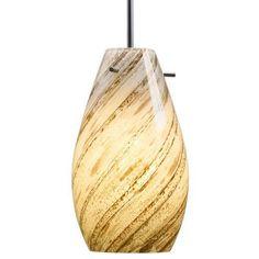 Bruck Soho Mono Point Pendant Light Bulb Type: Line Voltage Incandescent, Finish: Bronze, Shade Color: White