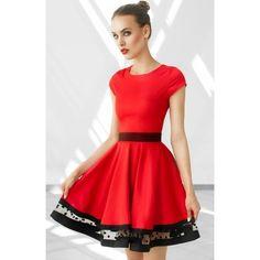 MONNOM BOUTIQUE sukienka PAG czerwona