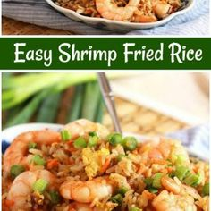 Here's an Easy Shrimp Fried Rice Recipe. This is a classic Asian fried rice recipe that is easy to make and is a website favorite. Easy Shrimp Fried Rice Recipe, Shrimp Recipes, Rice Recipes, Asian Recipes, Ethnic Recipes, Teriyaki Shrimp, Shrimp Tacos, Stir Fry Rice, How To Cook Shrimp