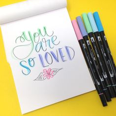 Hello friends! It�s Smitha here today sharing a few lettering tutorials using the new Pastel Dual Brush Pen Set today! I�ll share a few of my favorite lettering tips in this post and there is a video included too! I have been enjoying the soft colors of t
