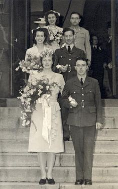 War Weddings ~ sometimes the groom had a proxy 1940s Wedding, Vintage Wedding Photos, Vintage Bridal, Wedding Pictures, Vintage Photos, Vintage Weddings, Vintage Couples, Wedding Attire, Wedding Bride